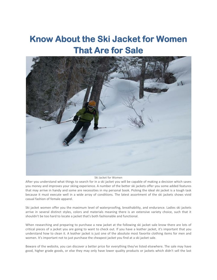 know about the ski jacket for women know about n.