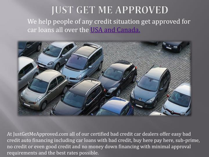 No Credit Car Dealerships >> Ppt Car Loans For People With Bad Credit Powerpoint