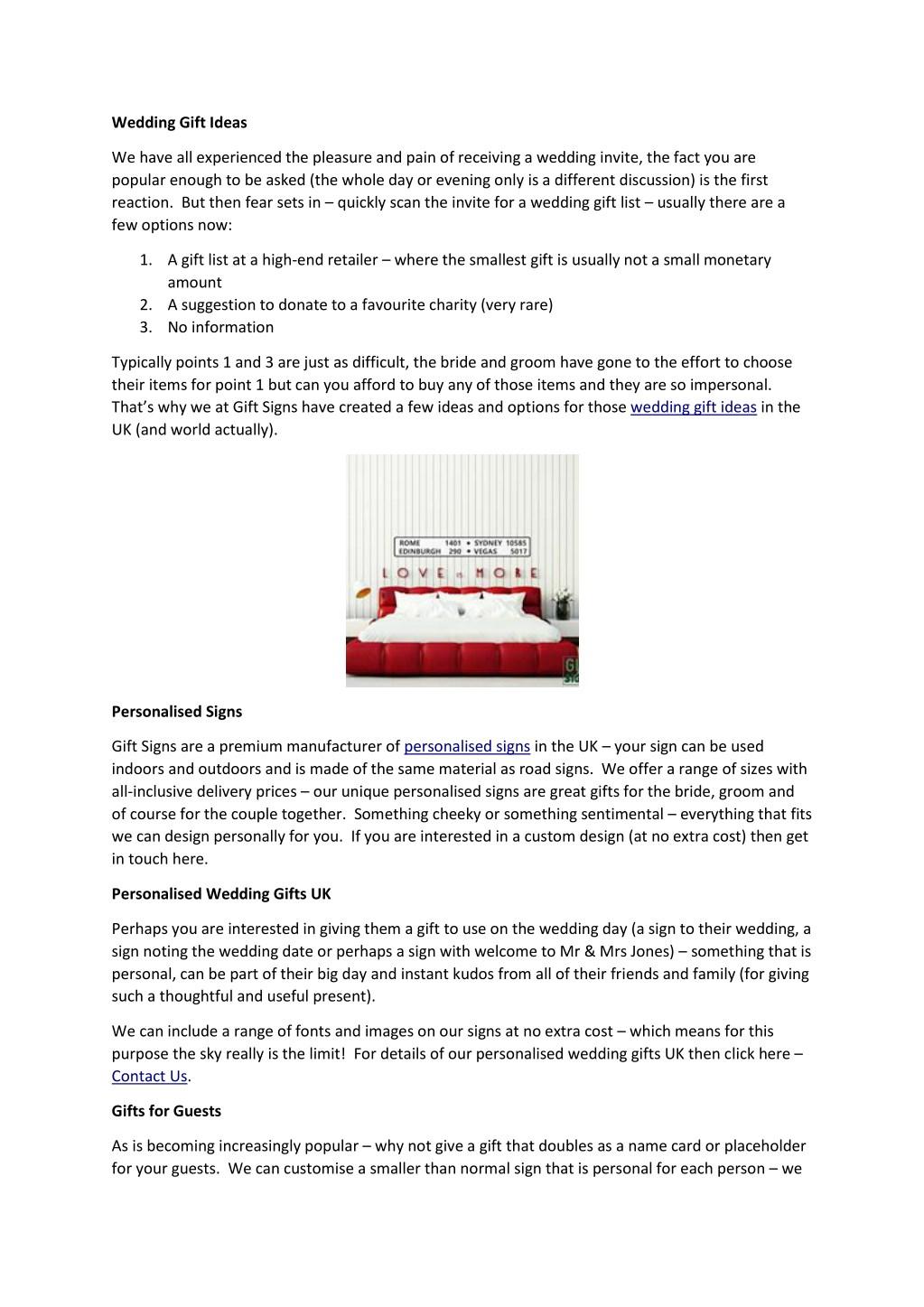 ppt wedding gift ideas powerpoint presentation id 7856807
