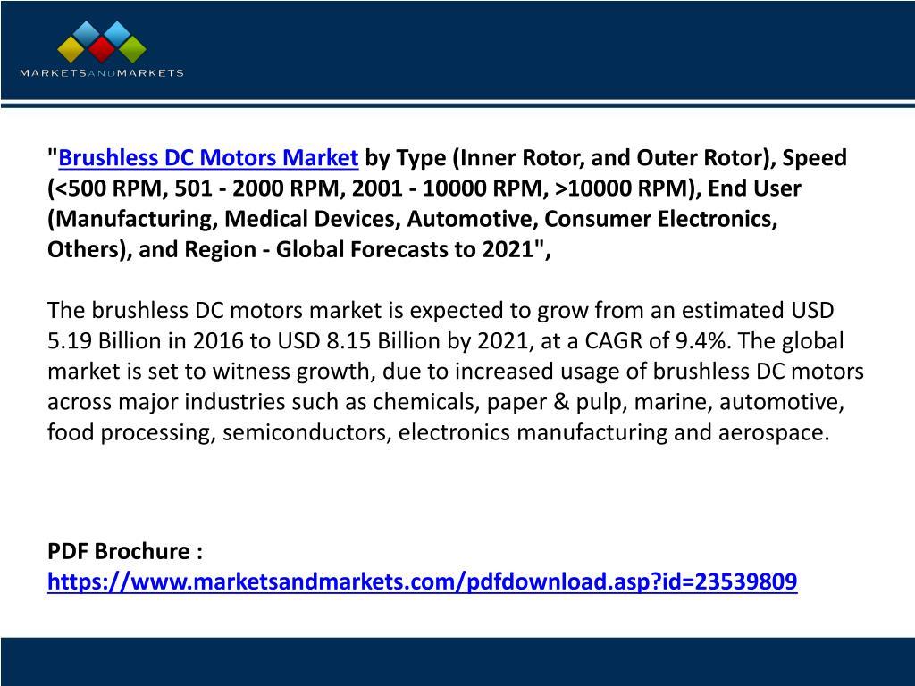 PPT - Brushless DC Motors Market Company Profiles Analysis and