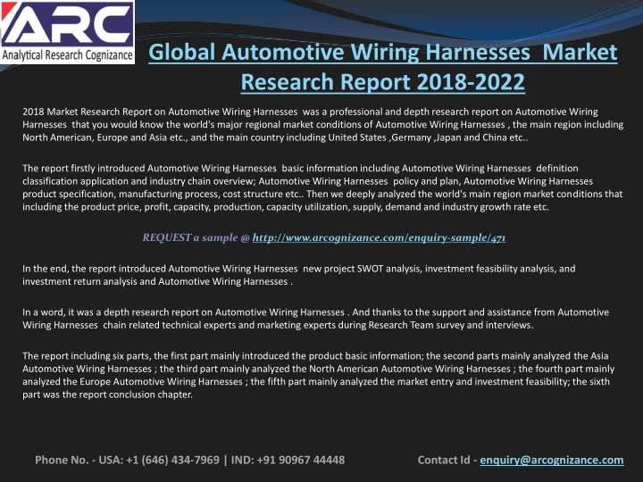 Phenomenal Ppt Automotive Wiring Harnesses Market Is Expected To Grow At High Wiring 101 Taclepimsautoservicenl