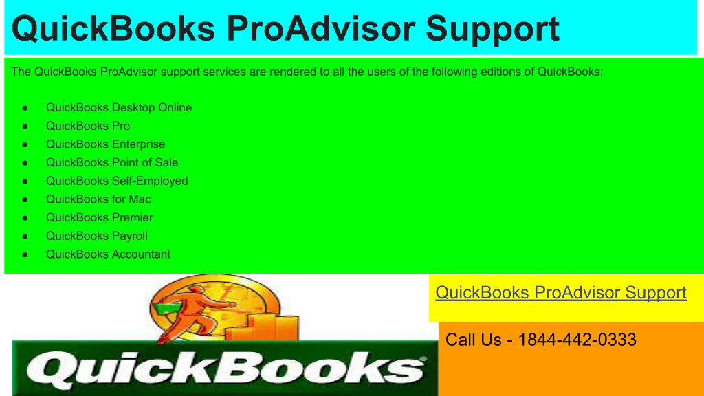 PPT - Contact QuickBooks Pro Advisor Support PowerPoint