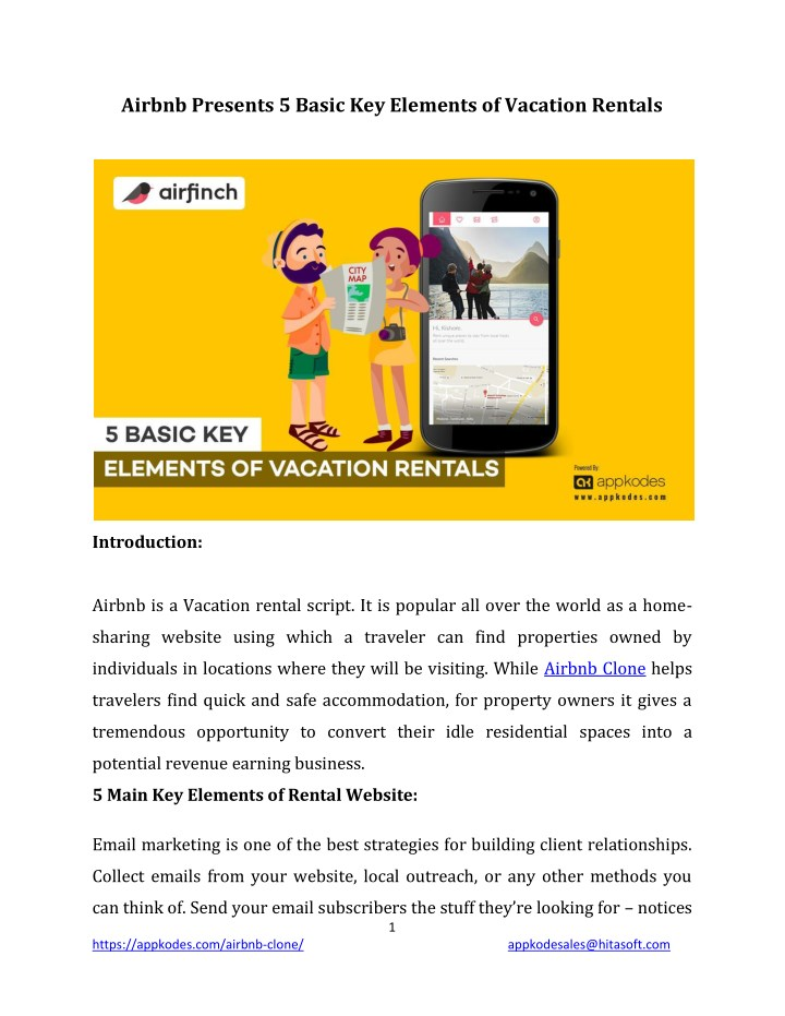 airbnb presents 5 basic key elements of vacation n.