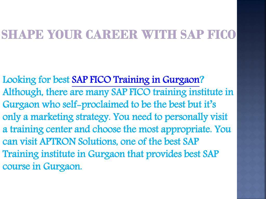 PPT - SAP FICO Training in Gurgaon PowerPoint Presentation