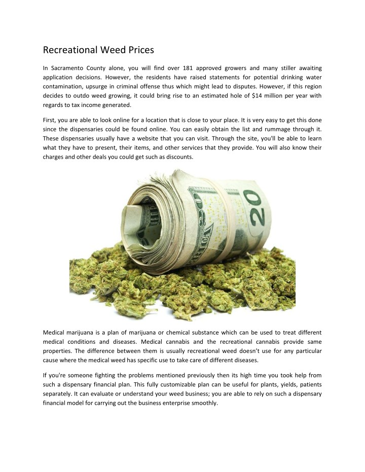 PPT - Recreational Weed Prices PowerPoint Presentation - ID:7857305