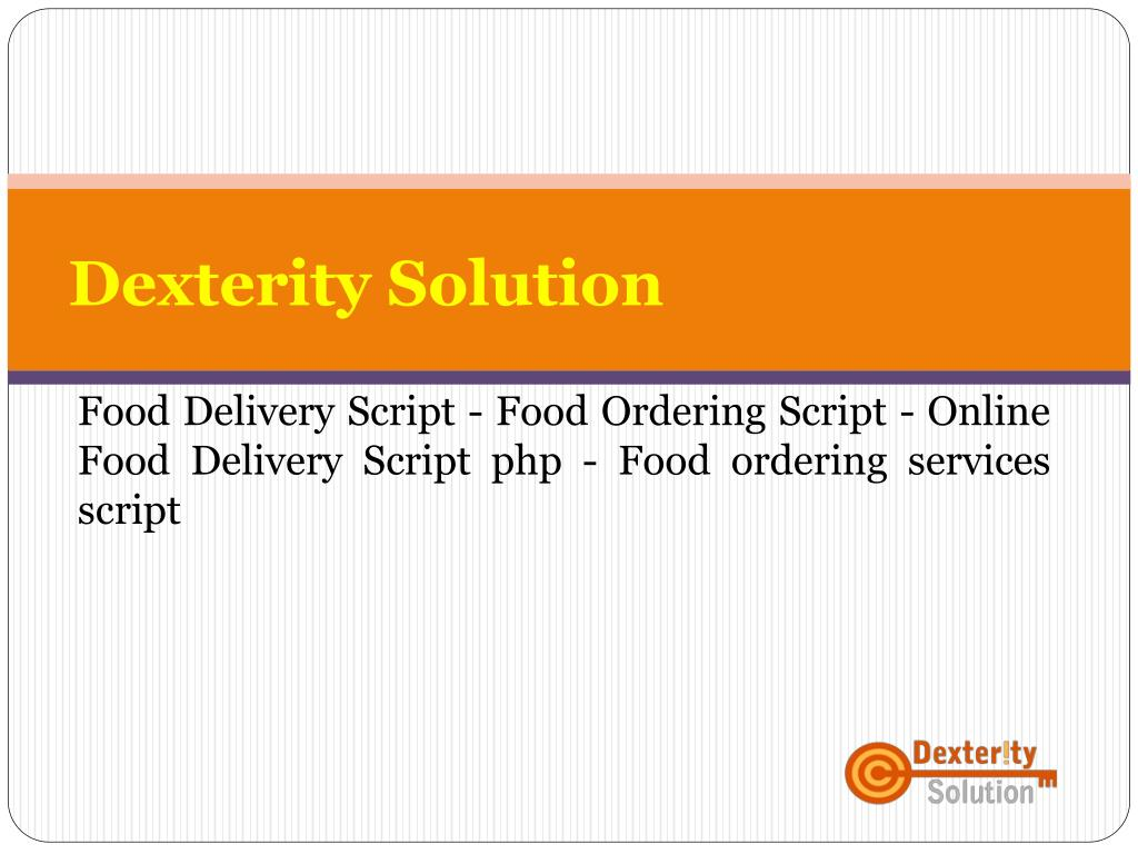 PPT - Online Food Delivery Script php - Food ordering