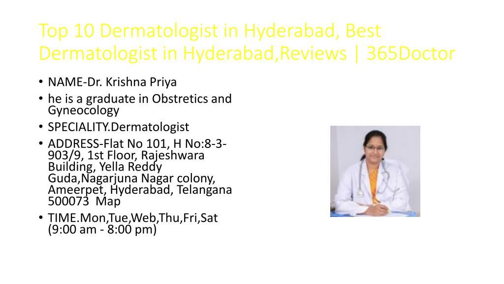 PPT - Top 10 Dermatologist in Hyderabad, Best Dermatologist