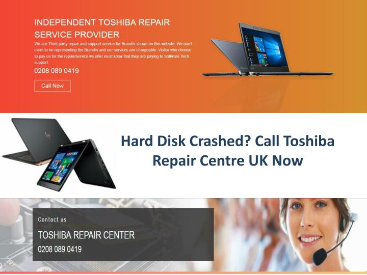 hard disk crashed call toshiba repair centre uk now n.