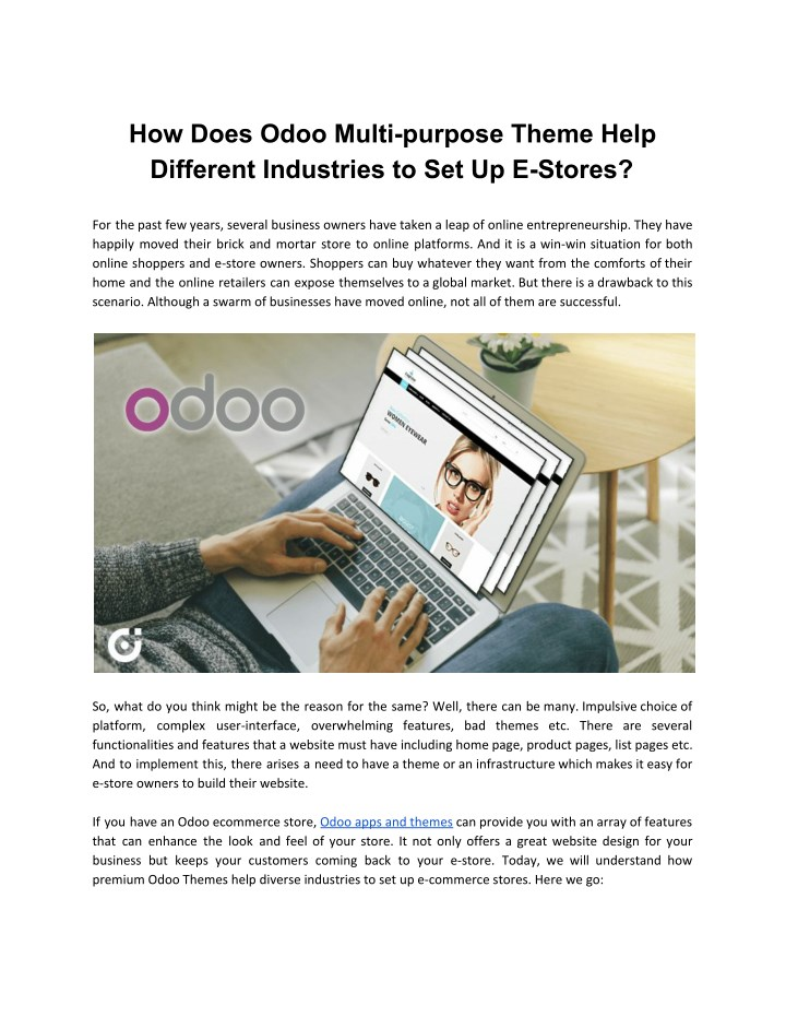 PPT - How Does Odoo Multi-purpose Theme Help Different Industries to