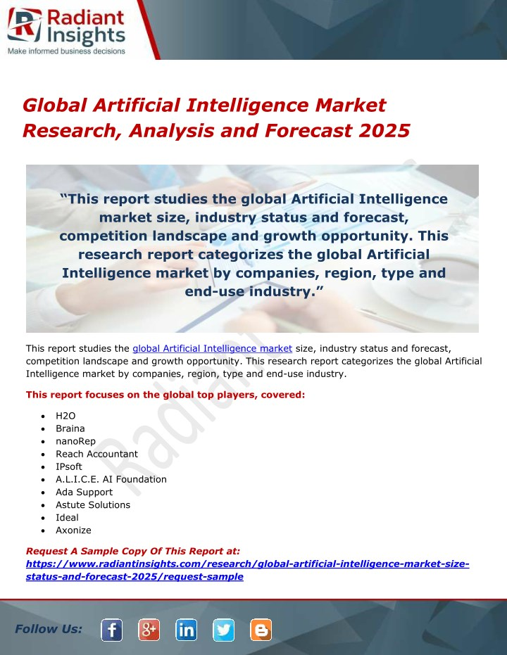 global artificial intelligence market research n.