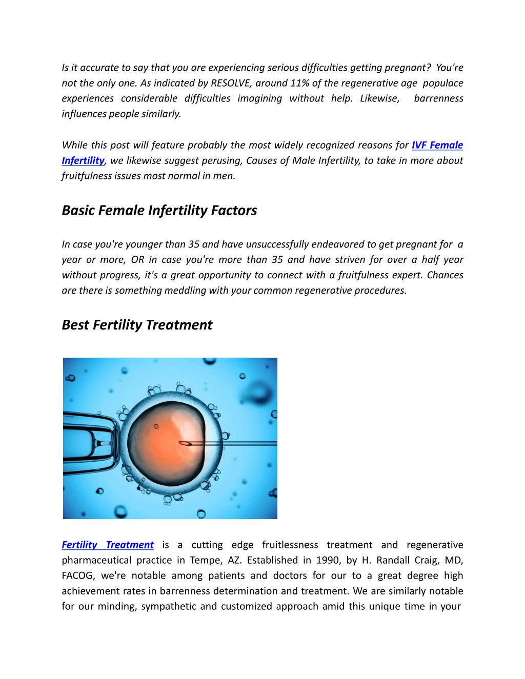 PPT - Female Infertility Treatment | Female Infertility