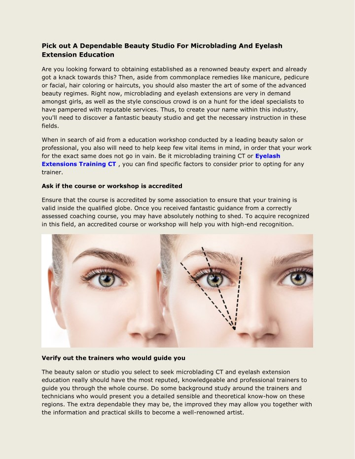 ppt - eyelash extensions training ct powerpoint presentation - id ...