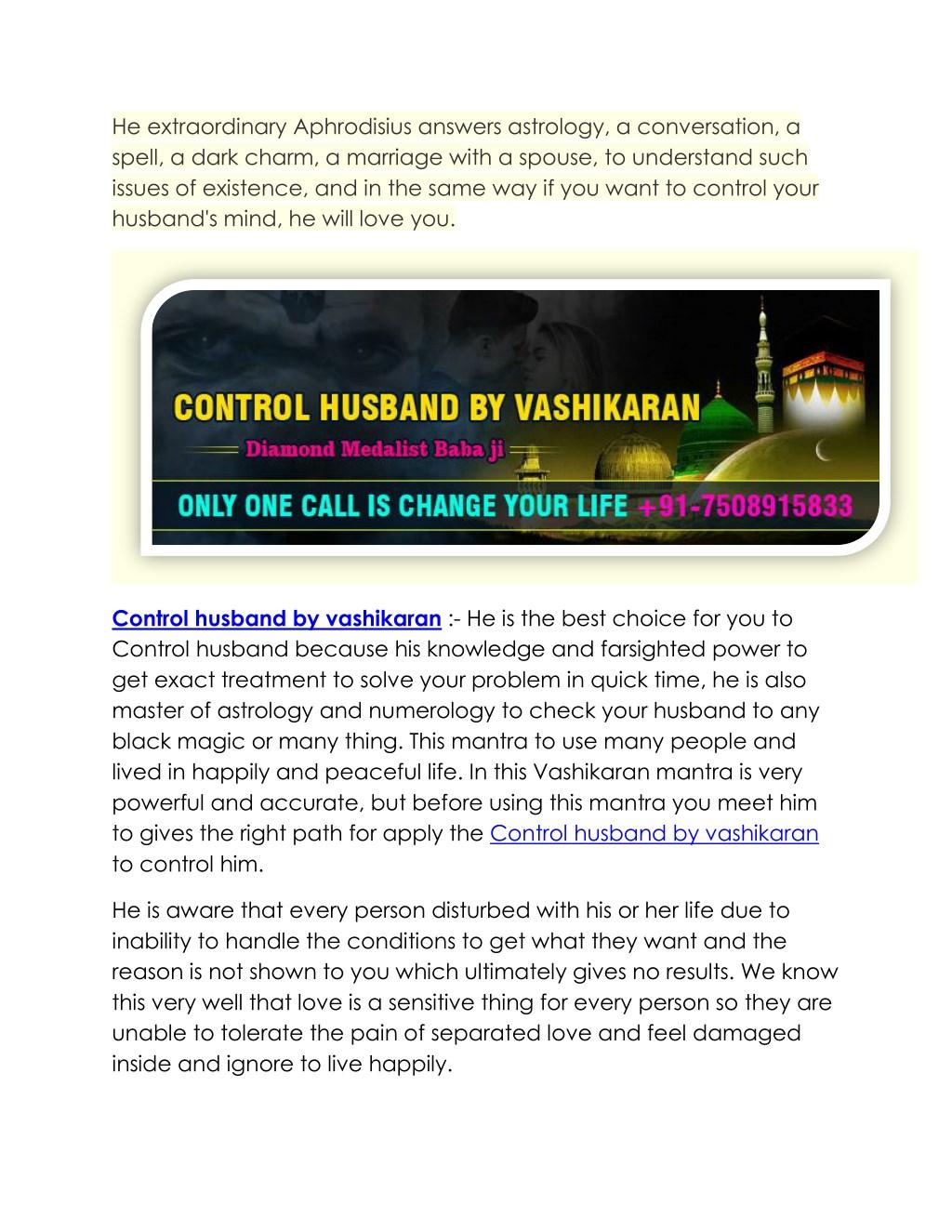 PPT - Control Husband By Vashikaran | 91-7508915833 | Delhi
