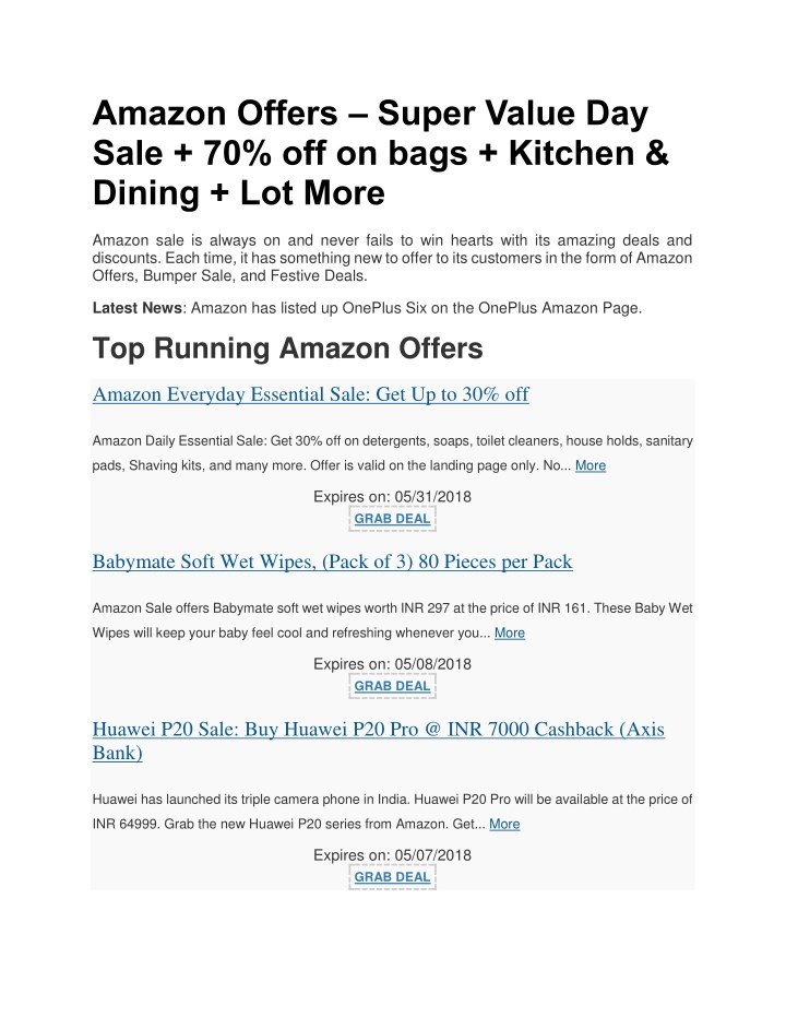 9bc2f02f60c1 PPT - Amazon Offers PowerPoint Presentation - ID 7859937