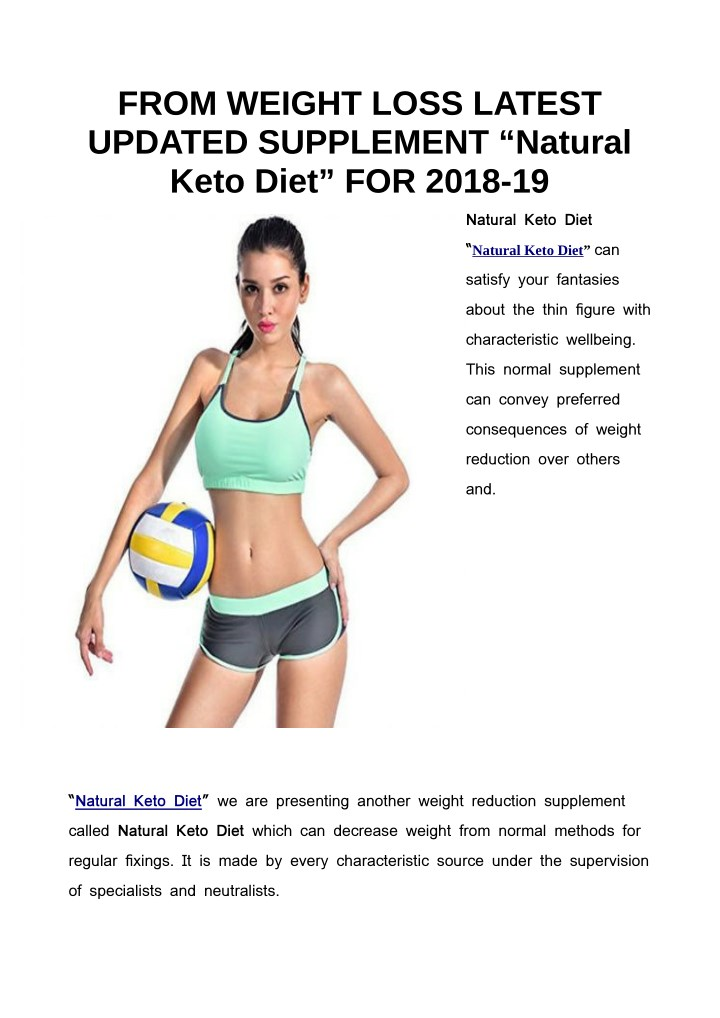from weight loss latest updated supplement n.