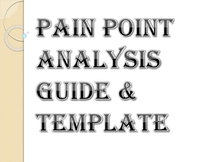 pain point analysis guide template n.