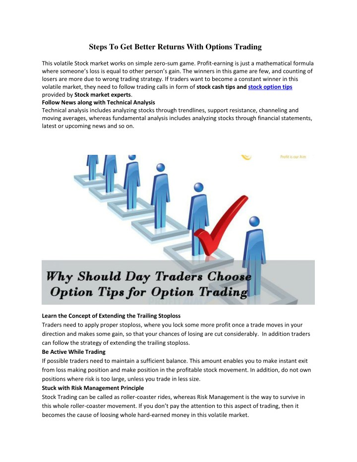 steps to get better returns with options trading n.