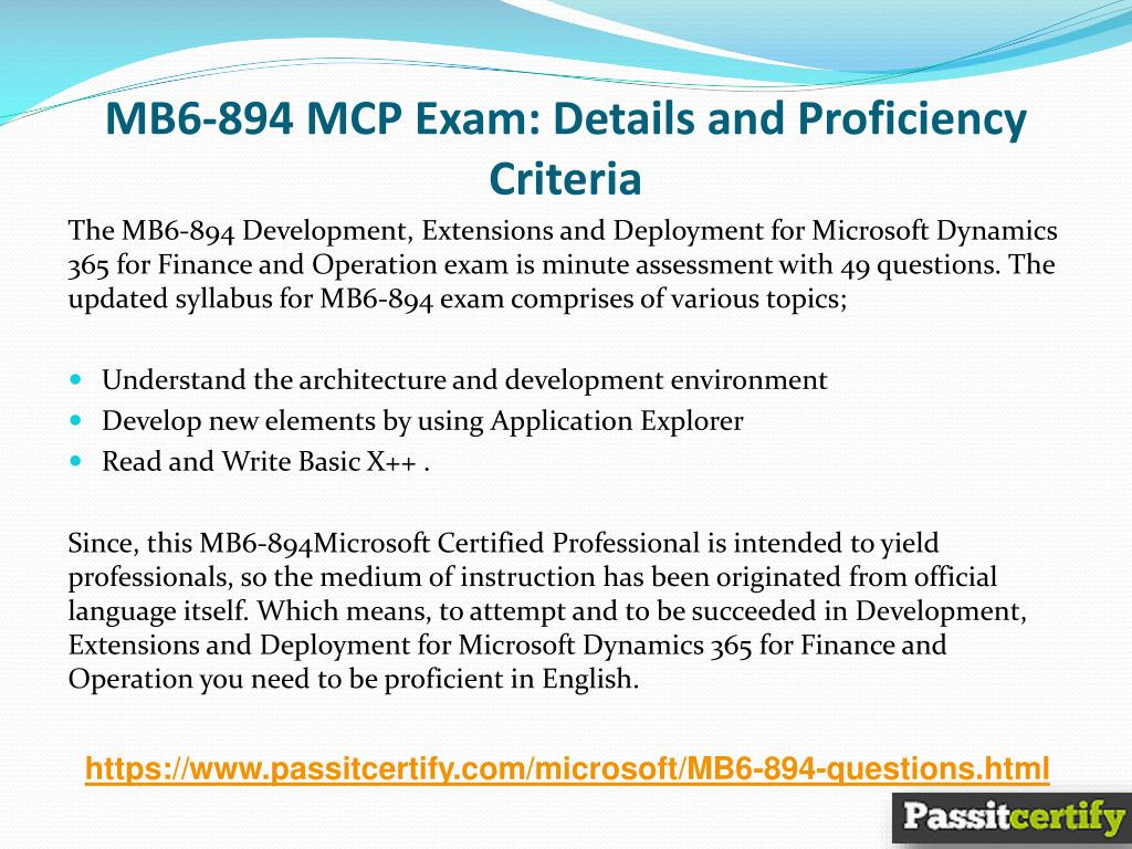 PPT - MB6-894 Microsoft Dynamics Exam Quality Preparation Material