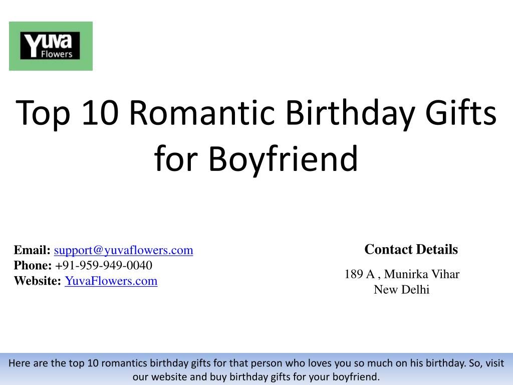 top 10 romantic birthday gifts for boyfriend n