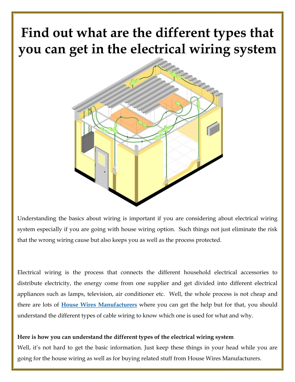 Phenomenal Ppt Different Types That You Can Get In The Electrical Wiring Wiring Digital Resources Arguphilshebarightsorg