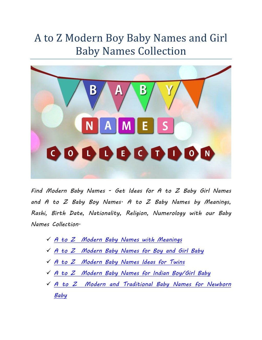 Ppt Modern Girl Baby Names Modern Boy Baby Names With A To Z
