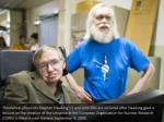 theoretical physicists stephen hawking l and john