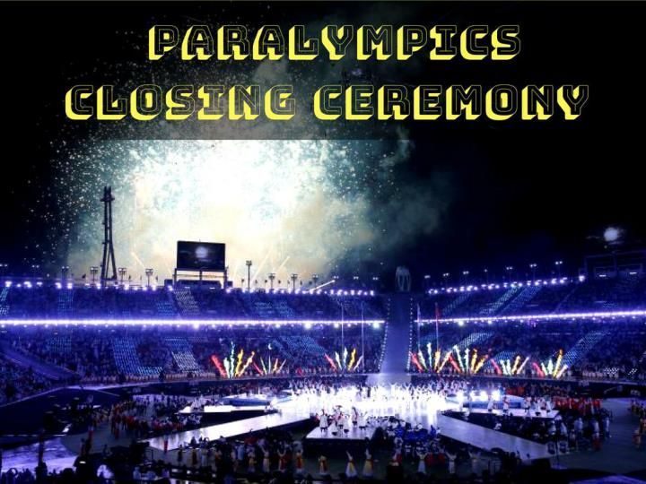 paralympics closing ceremony n.