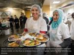 iranian american volunteers serve food