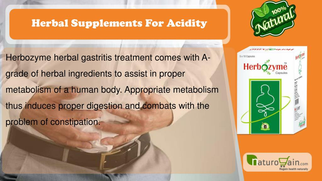 PPT - Herbal Supplements for Acidity and Gastritis Treatment at Home