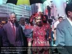 nelson and winnie mandela arrive at johannesburg