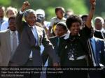 nelson mandela accompanied by his wife winnie