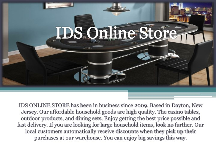 ids online store has been in business since 2009 n.