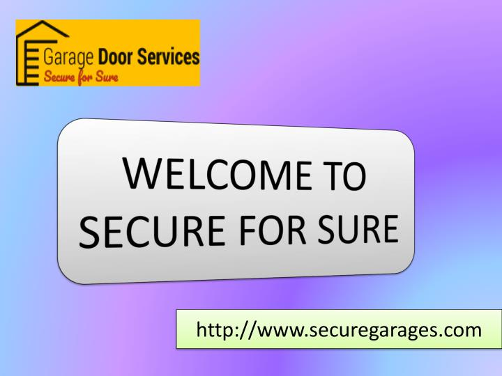 welcome to secure for sure n.
