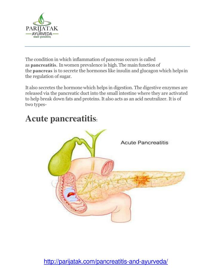 Ppt Pancreatitis And Ayurveda Symptoms And Its Medicines Only At