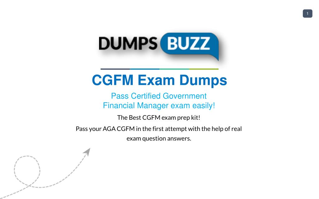 Ppt Purchase Latest Cgfm Exam Sample Questions Vce With Pdf