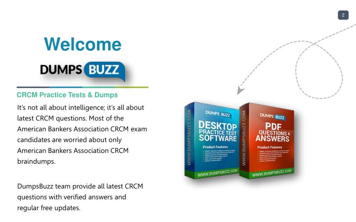 PPT - The best way to Pass CRCM Exam with VCE new questions ...