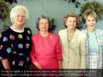 former first ladies l r barbara bush johnson