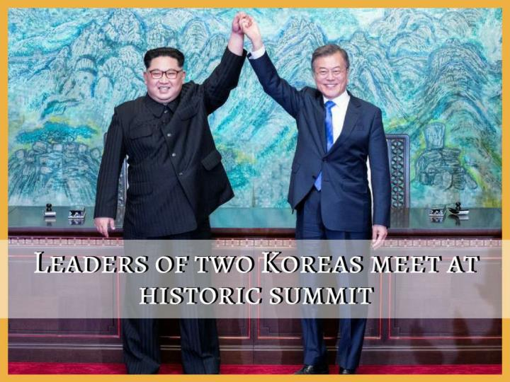 leaders of two koreas meet at historic summit n.