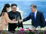 south korean president moon jae in toasts north