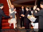 india s prime minister narendra modi is greeted