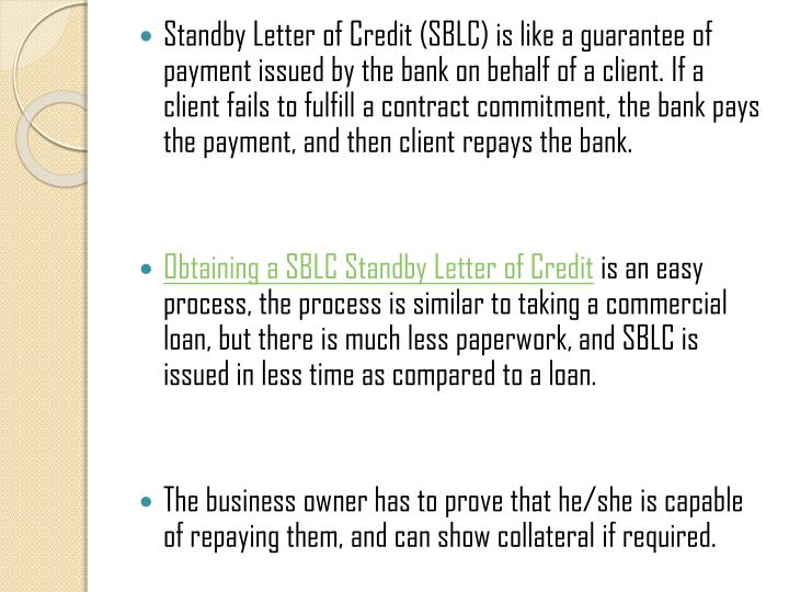 Financial Standby Letter Of Credit - Letter BestKitchenView CO