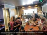 diners eat inside of ellen s cafe after