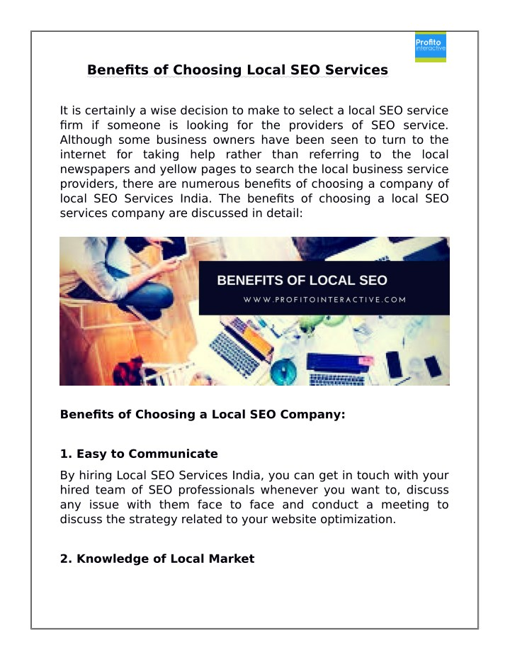 benefits of choosing local seo services n.