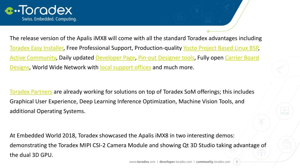PPT - Toradex opens Early Access for the Apalis iMX8 with
