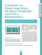 trabajando con binary large object blob