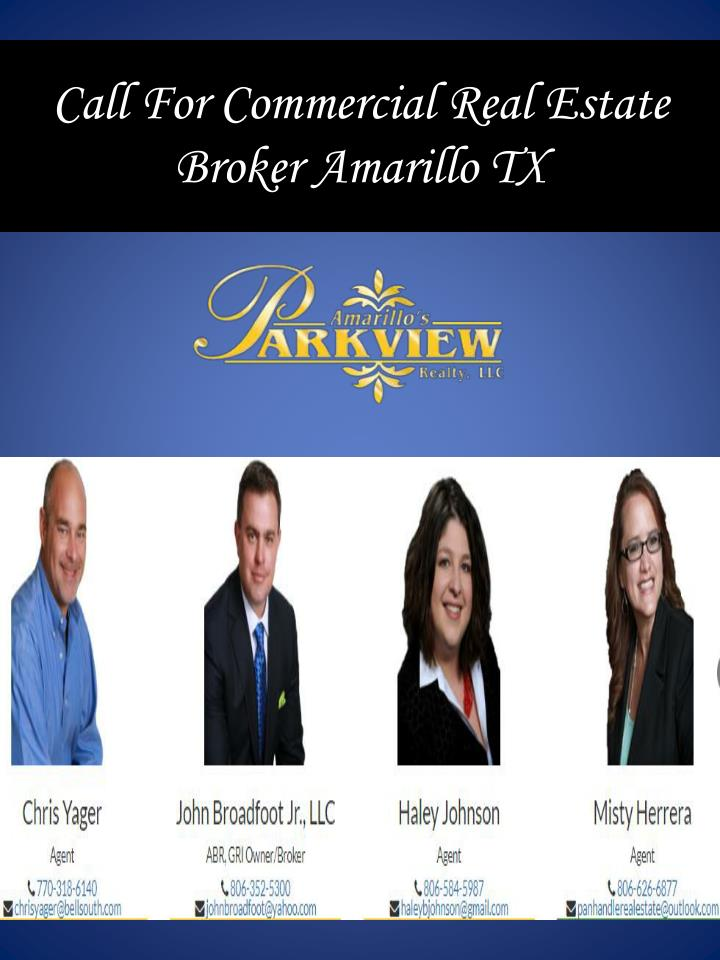 call for commercial real estate broker amarillo tx n.