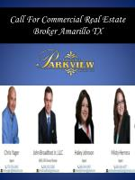 call for commercial real estate broker amarillo tx