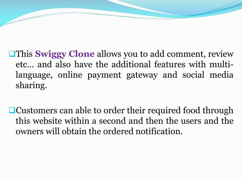 PPT - Swiggy Clone | Food Ordering Script PowerPoint