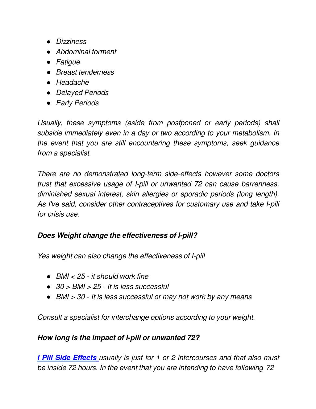 PPT - I Pill 72 | Birth Control Pills | Elawoman PowerPoint