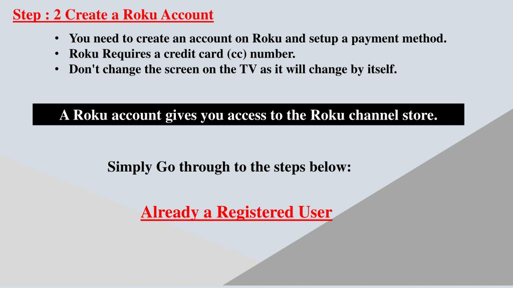 PPT - Setup and Activate Roku account step by step 1-855-430-3276